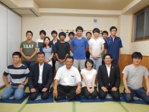 近畿大学体育会本部の皆様20150718_1
